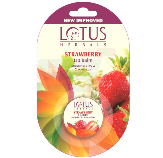 Lotus Lip Balm Strawberry 5gm