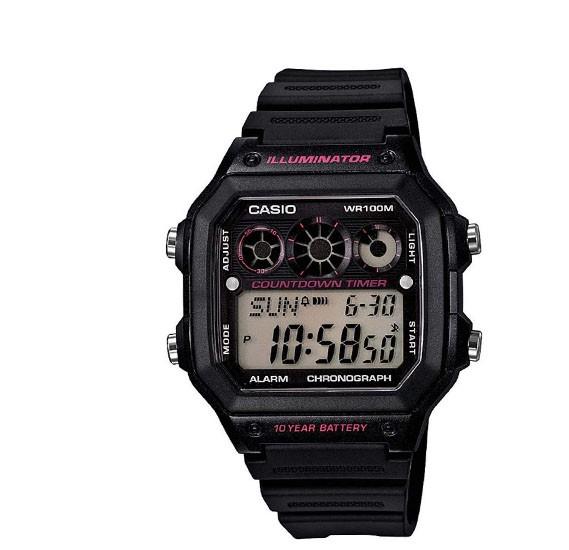 Casio AE-1300WH-1A2 Digital Grey Dial Watch for Men