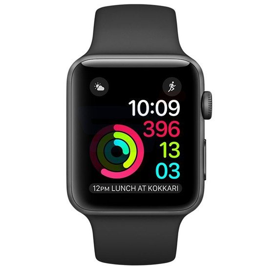 Apple Series 2 42MM MP062 Sport Band Black
