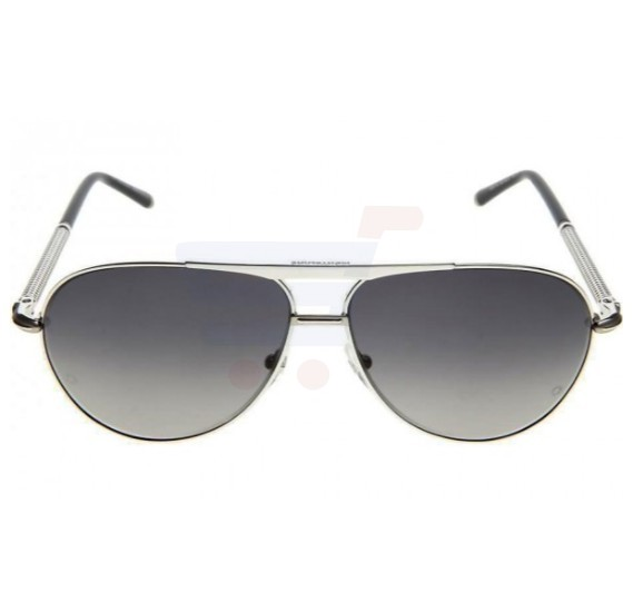 Mont Blanc Aviator Black Frame & Black Graient Mirrored Sunglasses For Men- MB513S-16B