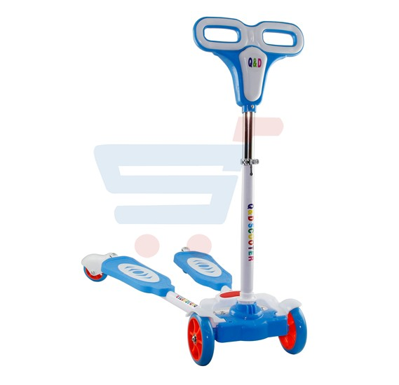 Frog Swing 4-Wheel Kick Scooter CS-5337B-Blue