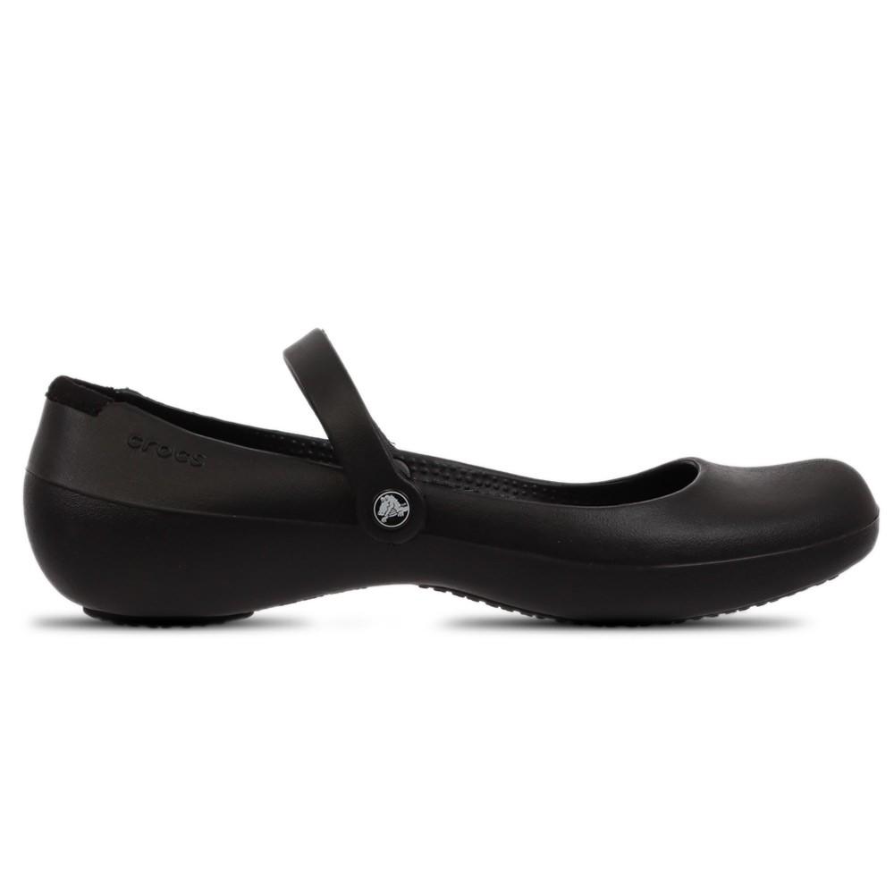 Crocs Womens Clogs Pump Shoes Alice Work Black, Size 37