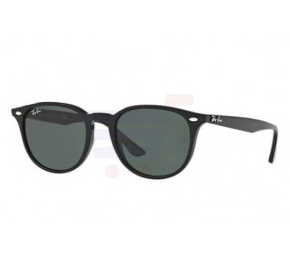 Ray-Ban Round Black Frame & Green Mirrored Sunglasses For Unisex - RB4259-601-71-51
