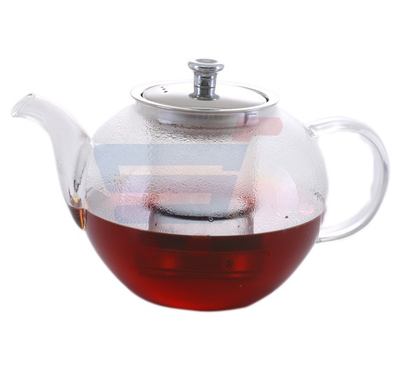 Royalford Glass Tea Pot With Stainless Steel Strainer 1200ML - RF8263
