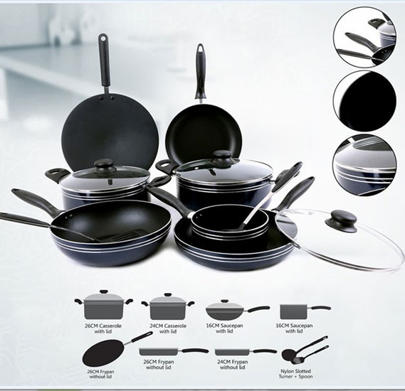 Royalford 12 Pcs Non Stick Cookware Set, RF5858