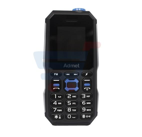 Admet K8000 Mobile Phone,Blue with 5000mAh Power Bank