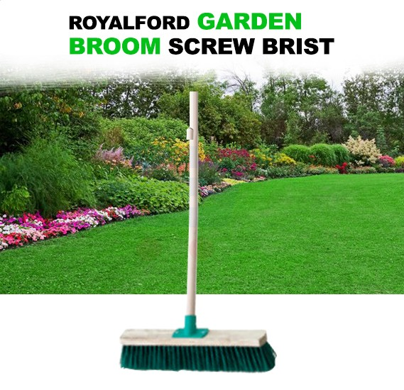 RoyalFord Garden Broom Screw Bristle - RF7779