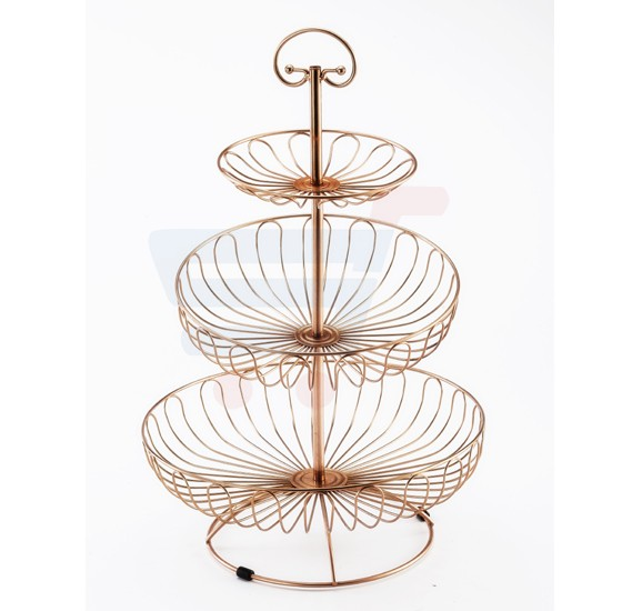RoyalFord 3 Tier Rose Gold Fruit Basket - RF8573