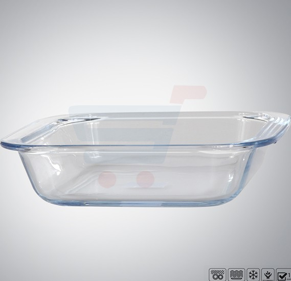 Royalford Square Glass Baking Tray .9 Ltr  - RF8806