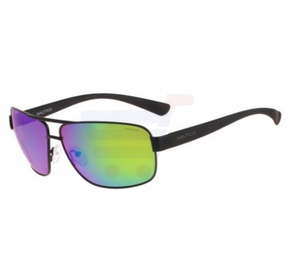 Nautica Square Matte Black Frame & Mirror Mirrored Sunglasses For Unisex - N4601SP-005