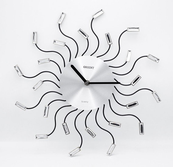 Orient spider clock metal glass, OC-T-27318
