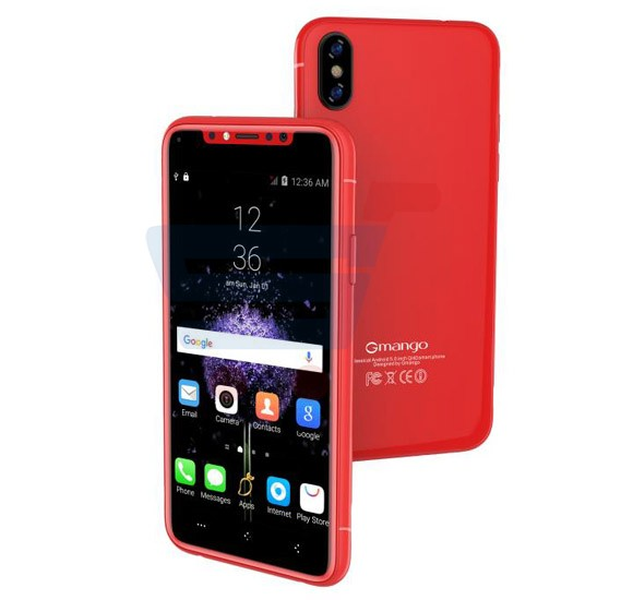 Gmango I8 Smartphone 4G LTE, Android 6.1, 5.0 Inch HD Display, 3GB RAM, 16GB Storage, Dual Camera, Dual Sim- Red