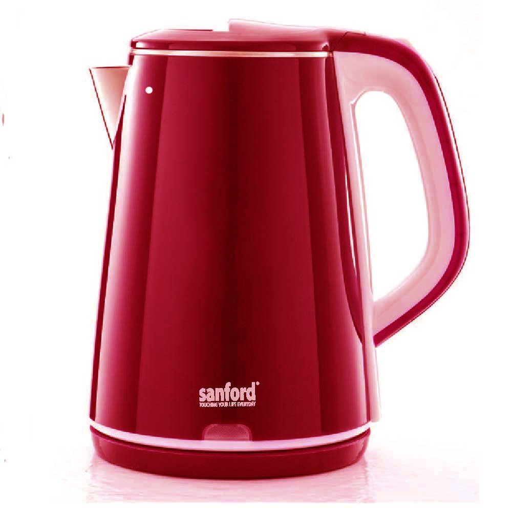 Sanford Stainless Steel Electric Kettle 2.2Litre Red Color, SF3363EK
