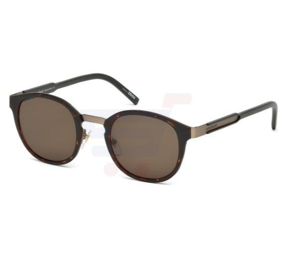 Mont Blanc Wayfarer Havana Frame & Brown Mirrored Sunglasses For Unisex - MB590S-52E