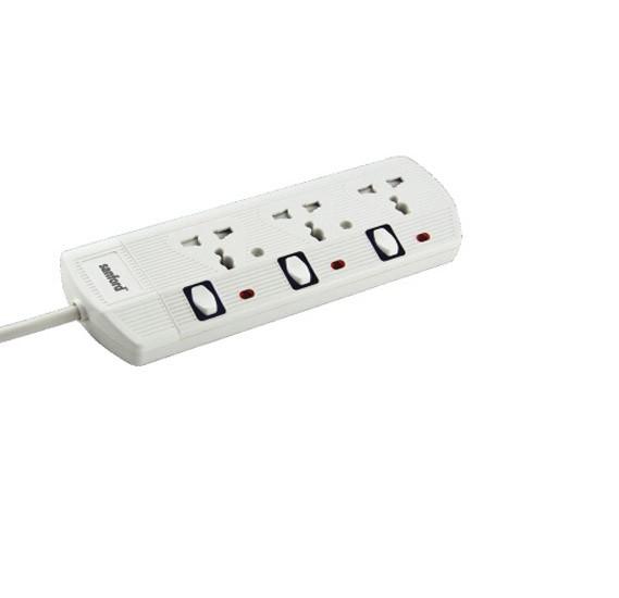 Sanford Sf2301es-3w bs 3 Way Extention Socket 3m - White