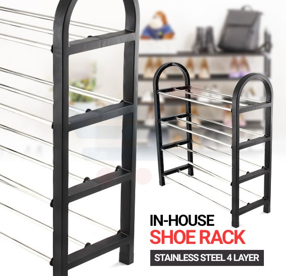 In-House Stainless Steel 4 Layer Shoe Rack -RS-8612