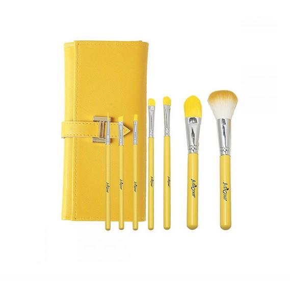 Just Gold 7 Pieces Brush Set - Yellow JG-9300