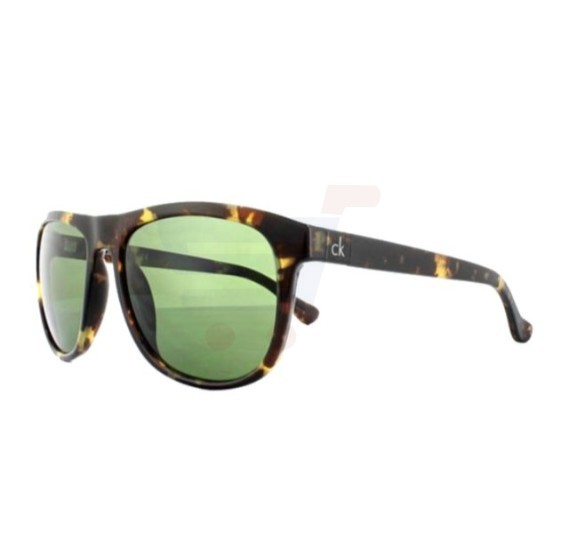 Calvin Klein Square Brown Frame & Green Mirrored Sunglasses For Unisex - CK3175S-214