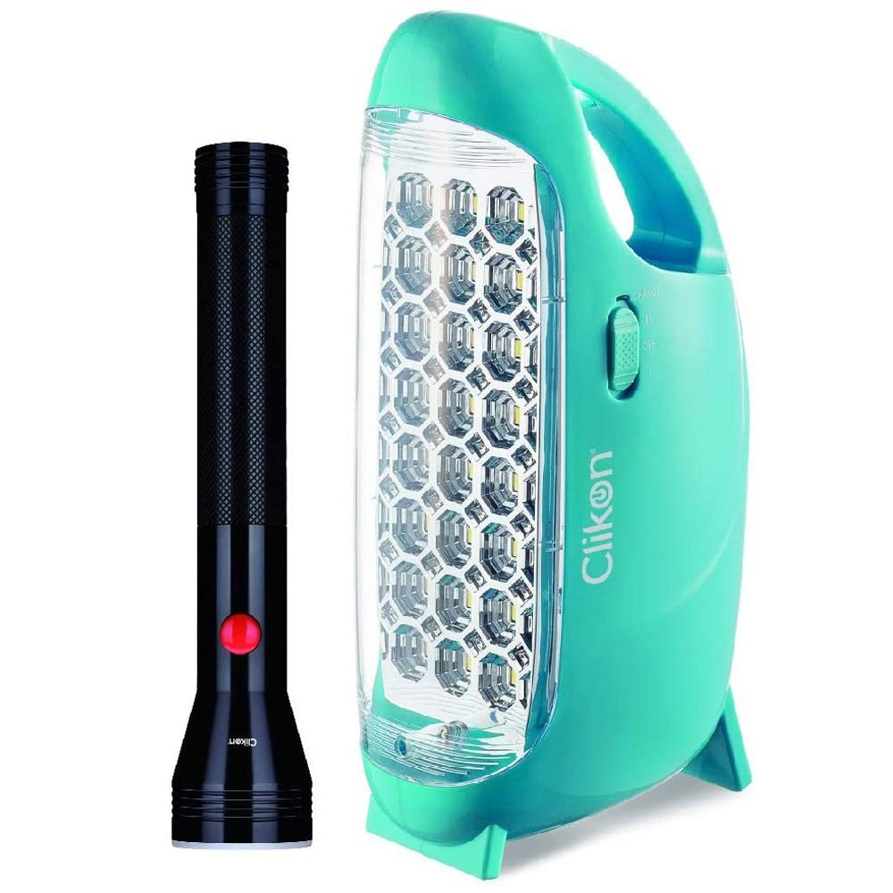 Clikon CK2540 Coleman LED Lantern and 2SC Flashlight Combo Green