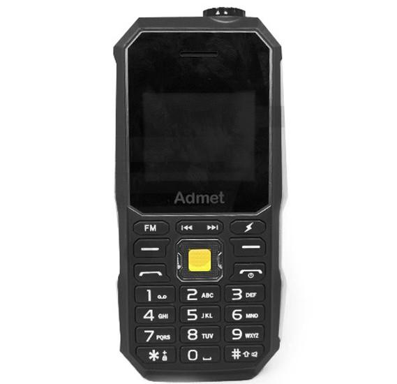 Admet K6000 Mobile Phone, Black with 5000mAh Power Bank