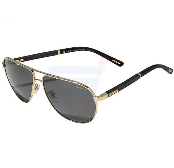 Chopard Aviator Shiny Rose Gold Frame & Black Colour Mirrored Sunglass For Unisex - SCHB78-300Z