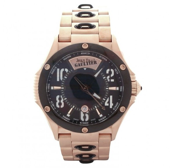 Jean Paul Gaultier Swiss Made Men Black & Rose Gold Watch - JPG0102010