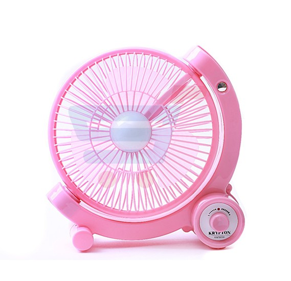 Krypton Rechargeable Mini Fan With LED Light, KNF6030