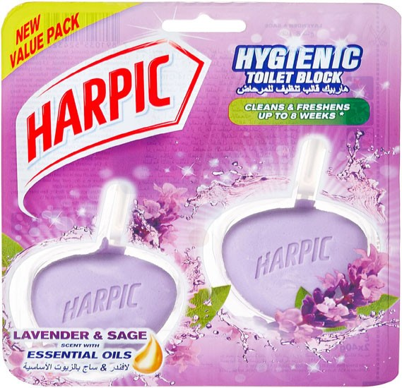 Harpic Active Fresh Lavender Hygienic Cageless Block