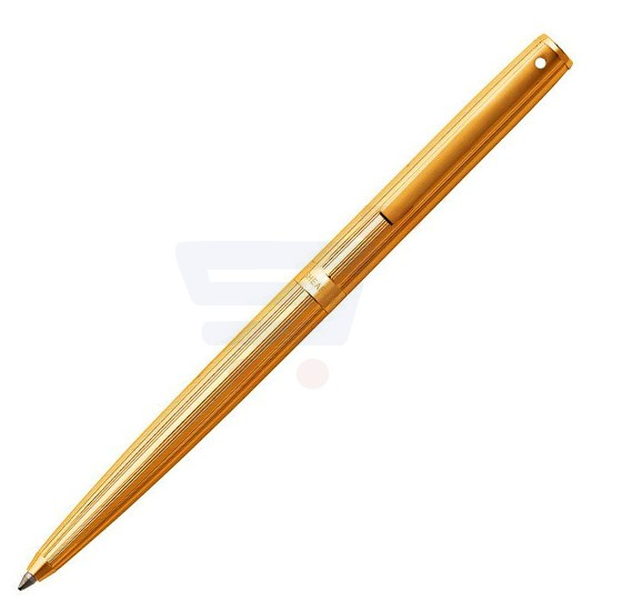 Sheaffer Sagaris Fluted Gold Tone Cap and Barrel Ballpoint Pen