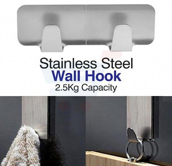 Stainless Steel Wall Hook Organizer - CH-1423