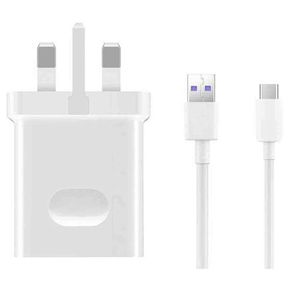 Huawei SuperCharge 40W HW-100400B00 Mains Charger Adapter + 5A Type C USB Cable