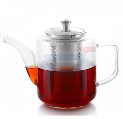 Royalford Glass Tea Pot With Stainless Steel Strainer 960ML - RF8262