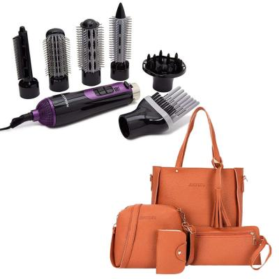 Combo Pack 7 in 1 Krypton Hair Styler Kit and Jingpin Korean Style Tote Tassel Bag 4pcs Set