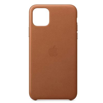 Apple IPhone 11 Pro Max Leather Case MX0D2ZM/A -Saddle Brown
