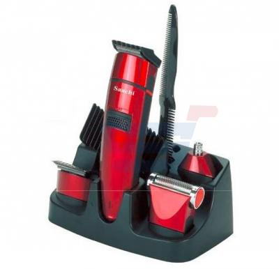 Saachi 6 in 1 Cordless Rechargeable Men's Hair Care Set Red - NL-TM-1342