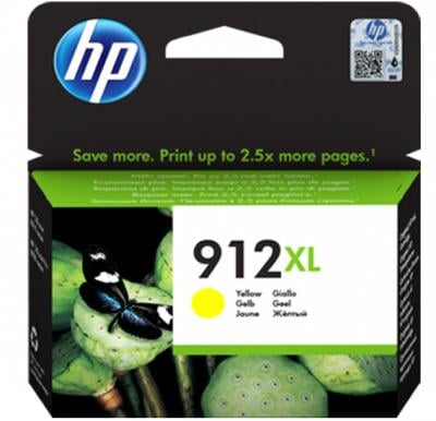 HP 912XL High Yield Yellow Original Ink Cartridge 3YL83AE