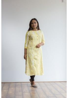Buy 2 Ruky Fareen Women Long Top Flair Kurti Full Sleeve RF 208, 209 and Get RF 210 M