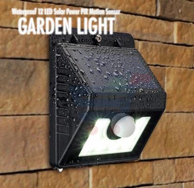 Waterproof 12 LED Solar Light, Solar Power PIR Motion Sensor LED Garden Light Outdoor Pathway Sense Solar Lamp Wall light