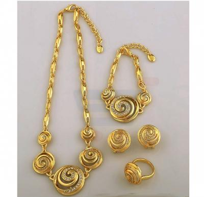 18k Real Gold Plated Swarovski Rhinestone Peru Jewelry Set For Women
