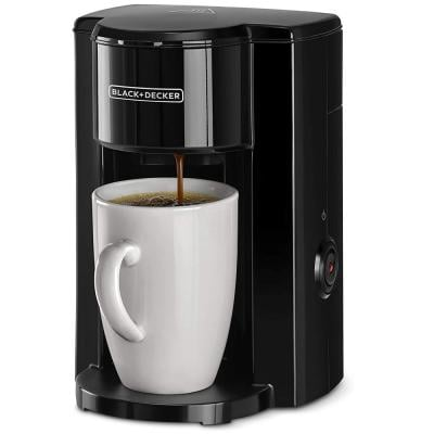Black and Decker DCM25-B5  One Cup Coffee Machine With Coffee Mug, Black