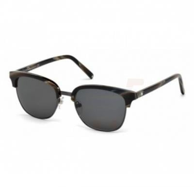 Mont Blanc Wayfarer Brown Frame & Smoke Mirrored Sunglasses For Men - MB515S-50A