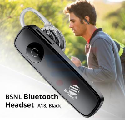 BSNL Bluetooth Headset A18, Black