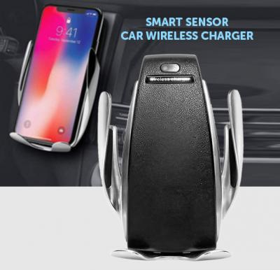 S5 Smart Senor Car Wireless Charger, Black & Silver