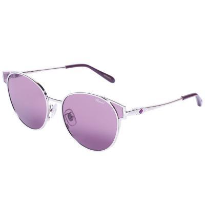 Chopard SCHC21S Silver Oval Women Sunglasses, Violet