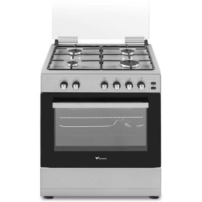 Veneto C3X66G4VE.VN 60 X 60 cm 4 Gas Burners Free standing Gas Cooker Stainless Steel