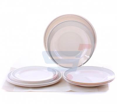 Epsilon EN3646 12 Pieces Melamine Ware Dinner Set