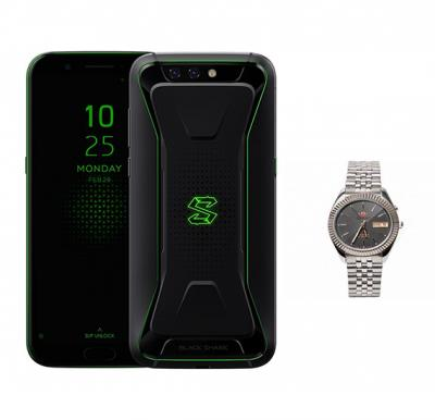 2 In 1 Bundle Xiaomi Black Shark 8GB 128GB 4G LTE Black  Global version + Orient Auto Ss Rolex Gents  J, OW-SEM16009