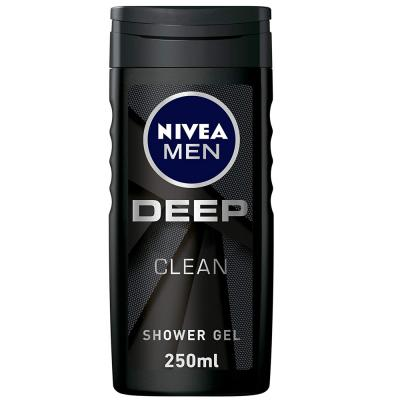 Nivea Men Deep Shower Gel, Micro-Fine Clay, Woody Scent, 250ml