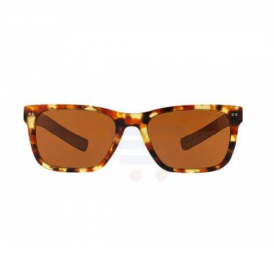 Giorgio Armani Rectangular Orange Havana With Wood Temple Frame & Brown Mirrored Sunglasses For Unisex - 0AR8062-541273