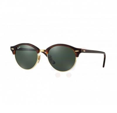 Ray-Ban Round Gold Turtle Frame & Green Mirrored Sunglasses For Unisex - RB4246-990-51